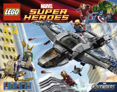LEGO Super Heroes 6869 Quinjet Aerial Battle (Lego Set With Wolverine)