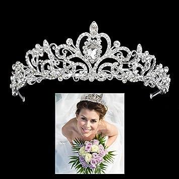 Prinzessinen Krone Braut Diadem Brautschmuck Tiara Uhren & Schmuck