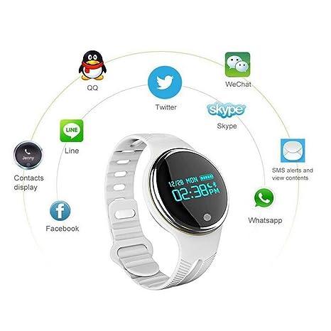Reloj Inteligente y rastreador de Actividad Sumergible TKSTAR, Reloj de Pulsera, Bluetooth, podómetro, Saludable, Monitor de sueño, cámara remota, ...