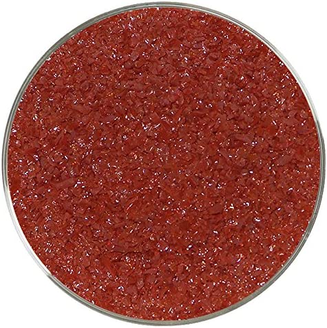 Lipstick Red Opalescent Medium Frit 96COE 8oz Made from System 96 Glass