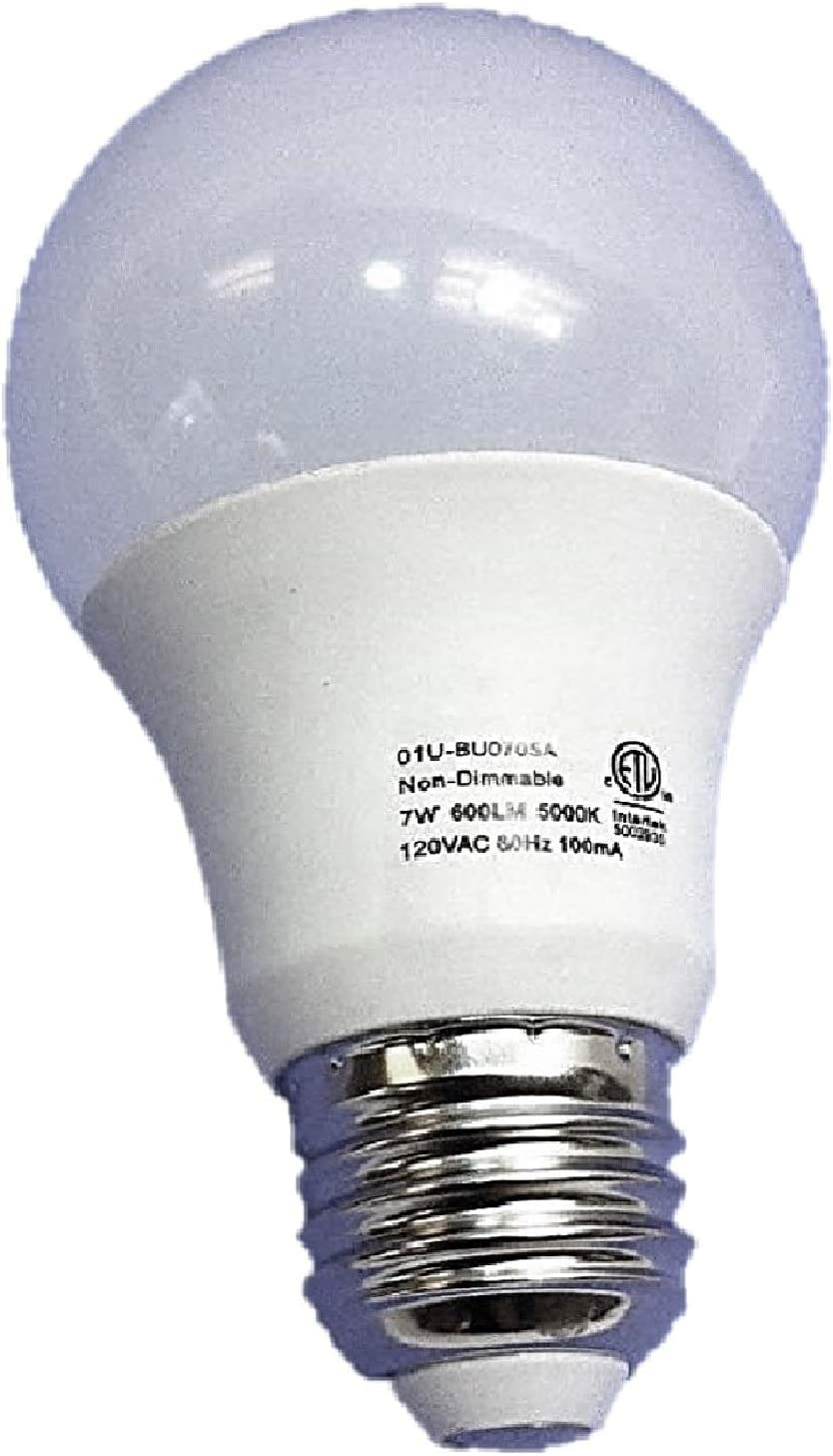 5000k 7-Watt New NON Dimmable Soft White Glow 100 pack LED LIGHT BULBS E26 A19 40 watt equivalent 600 Lumens