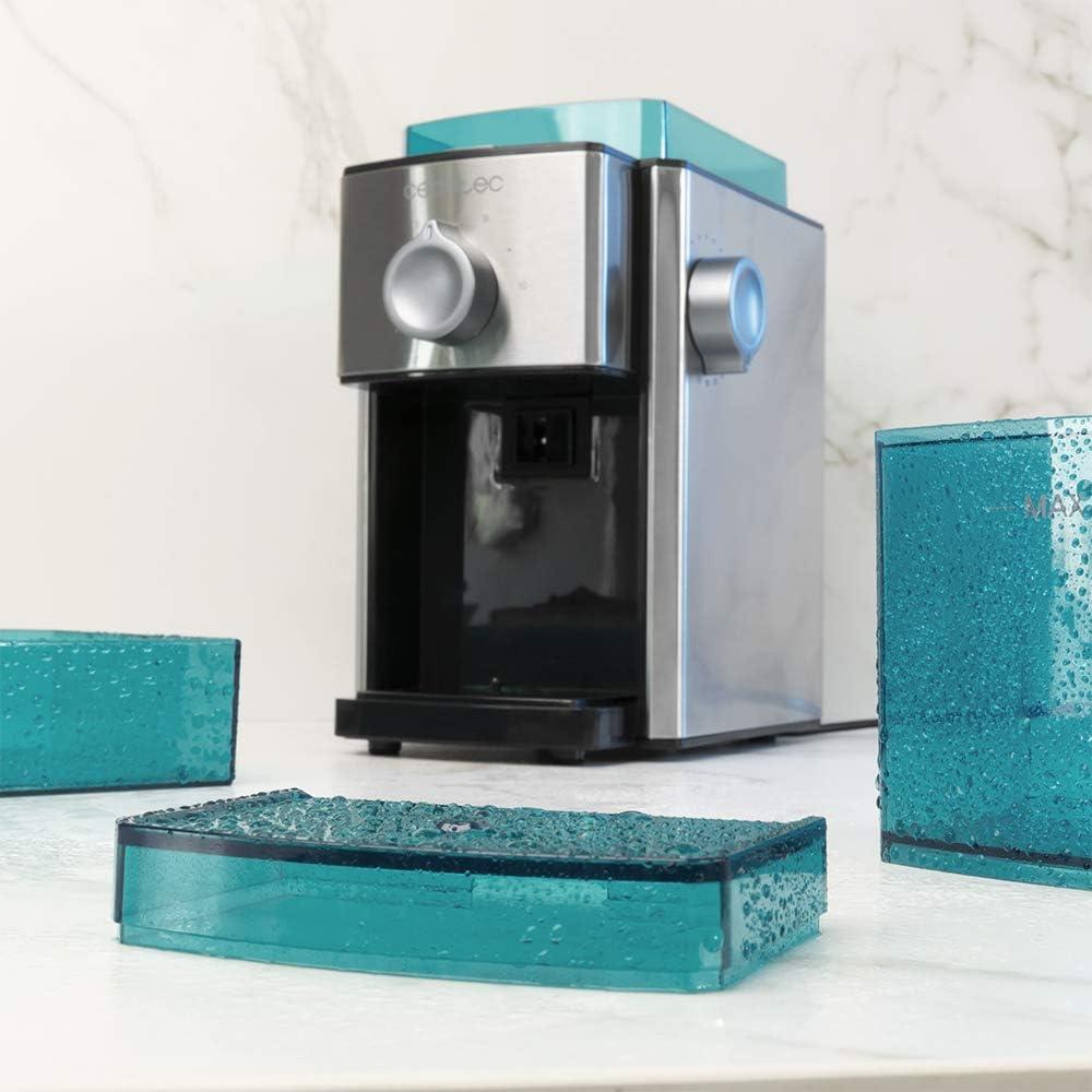17 Niveles de molienda Sistema de muelas Planas Acero Inoxidable Cecotec Molinillo de caf/é SteelMill 2000 Adjust Cantidad de 2 a 12 Tazas Capacidad 250 gr