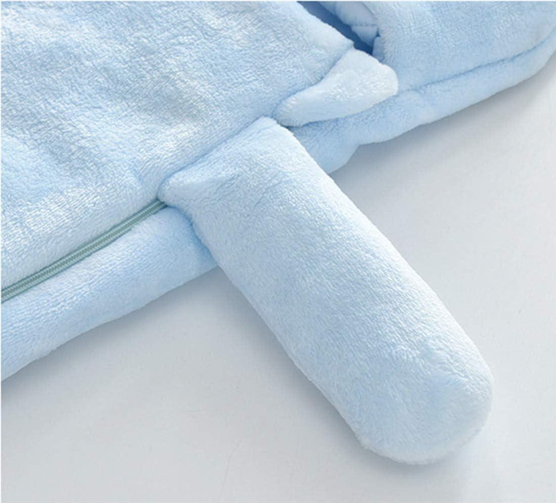 Doladola Sacco a Pelo per Coperte Indossabile in Cotone per Sacco a Pelo Sicuro per Bambino 0-2 anni Cane Blu