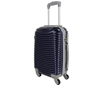 Maleta cabina 50 cm. 4 ruedas trolley cascara dura adecuadas para vuelos de bajo coste: Amazon.es: Equipaje