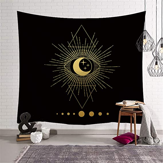 mmzki Sun Moon Tapestry Decoraciones para el hogar Colgantes de ...