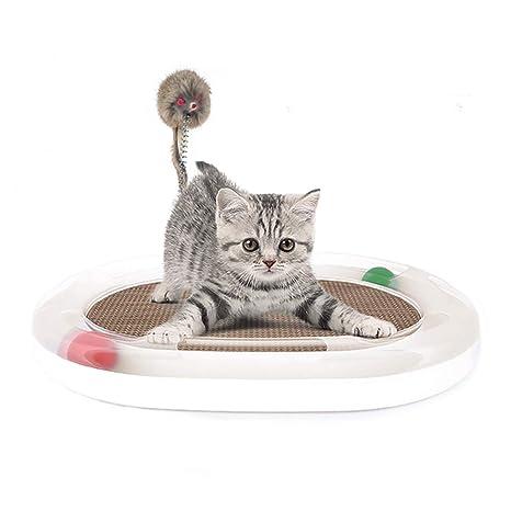 PETCUTE Rascador Gatos Juguetes para Gato Scratcher con ratón y ...