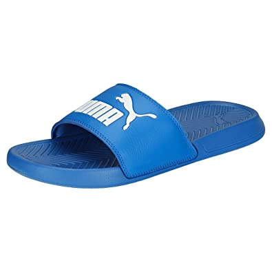 d1c9c63bfbfce Puma Mens Popcat Sliders Flip Flops Blue White1 UK 7 (41)
