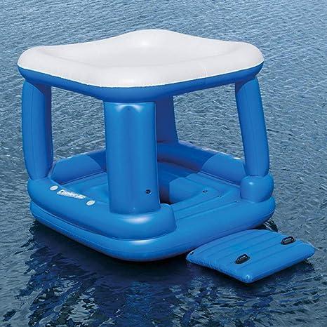 AUNLPB Isla Flotante Inflable de Brisa Tropical, Flotador de ...