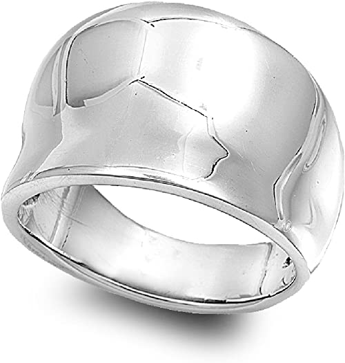 Princess Kylie 925 Sterling Silver Free Form Ring