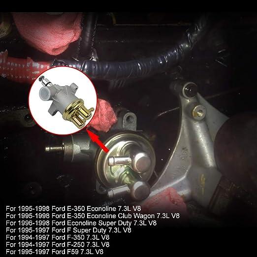 Part# F4TZ9350A Lift Fuel Pump For Ford E-350 F-350 F-250 F59 F Super Duty 1994-1998 7.3L Diesel Powerstroke F6TZ 9350-A