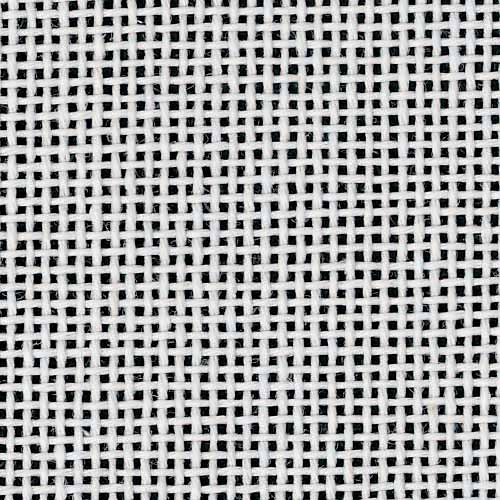 Zweigart Mono Orange Line Deluxe Canvas 18 Mesh, White, 18