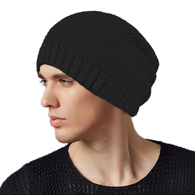 afc422f189ca0 Original One Winter Long Stocking Beanie Fleece Lined Knit Hat Loose  Slouchy Skull Ski Cap (