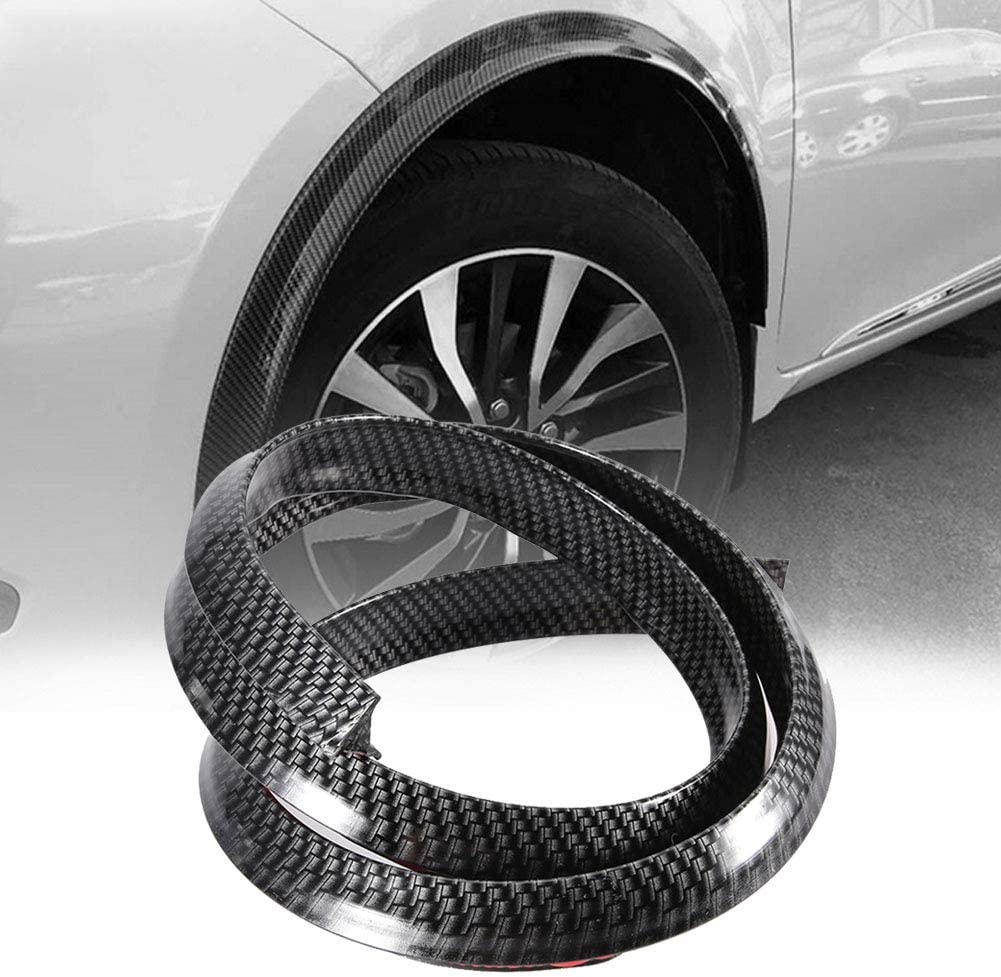 OKBY Motors Parts and Accessories-Carbon Fiber Fender Flares Car Wheel Arch Eyebrows Protect Anti-Scratch Pad