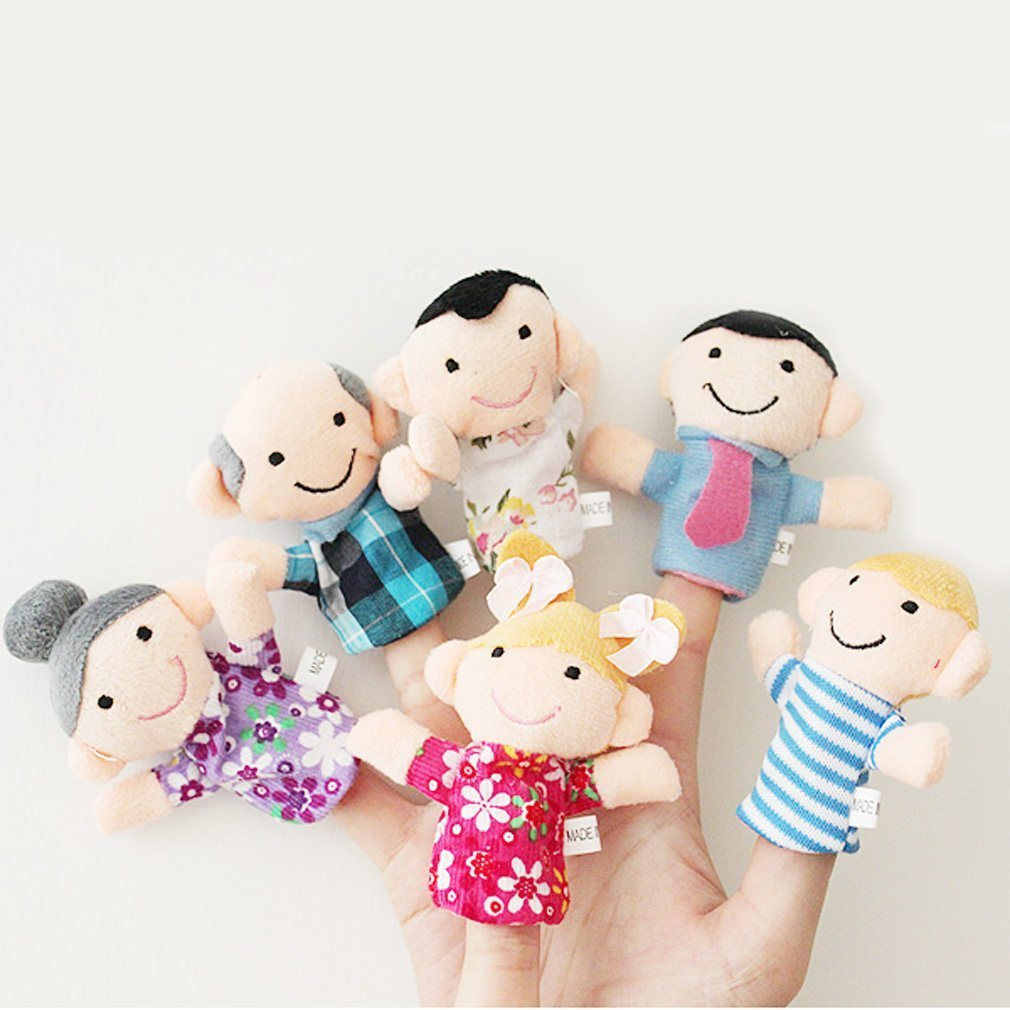 PANYTOW 6 Pcs Finger Puppet Set Soft Toy children's Learn Play Story Ebuy9