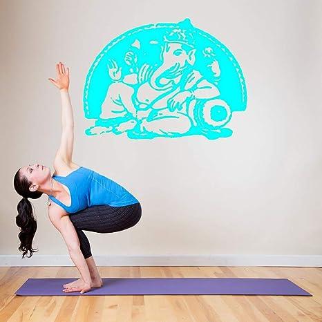 Vinilo Adhesivo de pared Yoga Ganesha Buda hindú Señor ...
