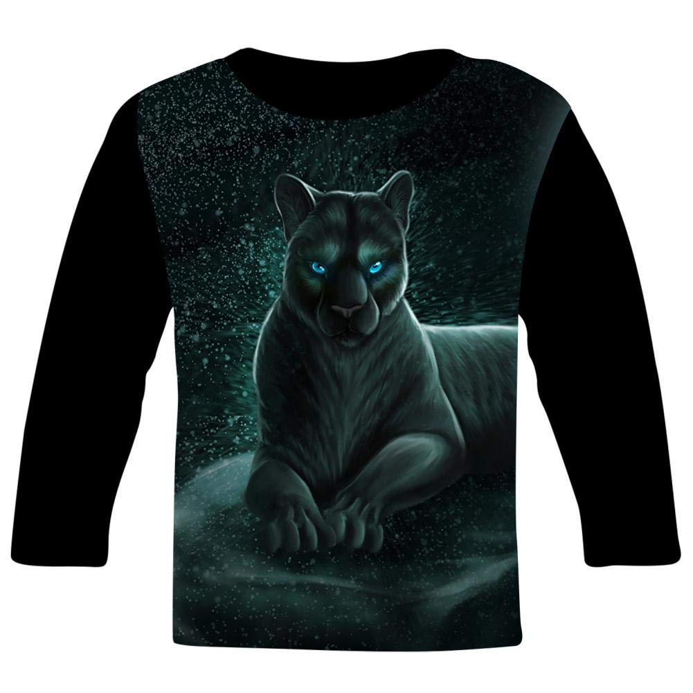Kids Big Cats Panthers O-Neck T Shirts for Fashion Children Boys Girls Long Sleeve Tee Shirt