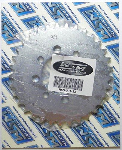 Kawasaki Steel Rear Sprocket 50 KFX 2003-2006 / 110 KLX 2002-2016 / 110 KLX-L 2010-2016 33 Teeth ATV / Motorcycle WSM RSS-001-33 OEM# 42041-1553, 42041-0006, K4204-11553, K4204-10006