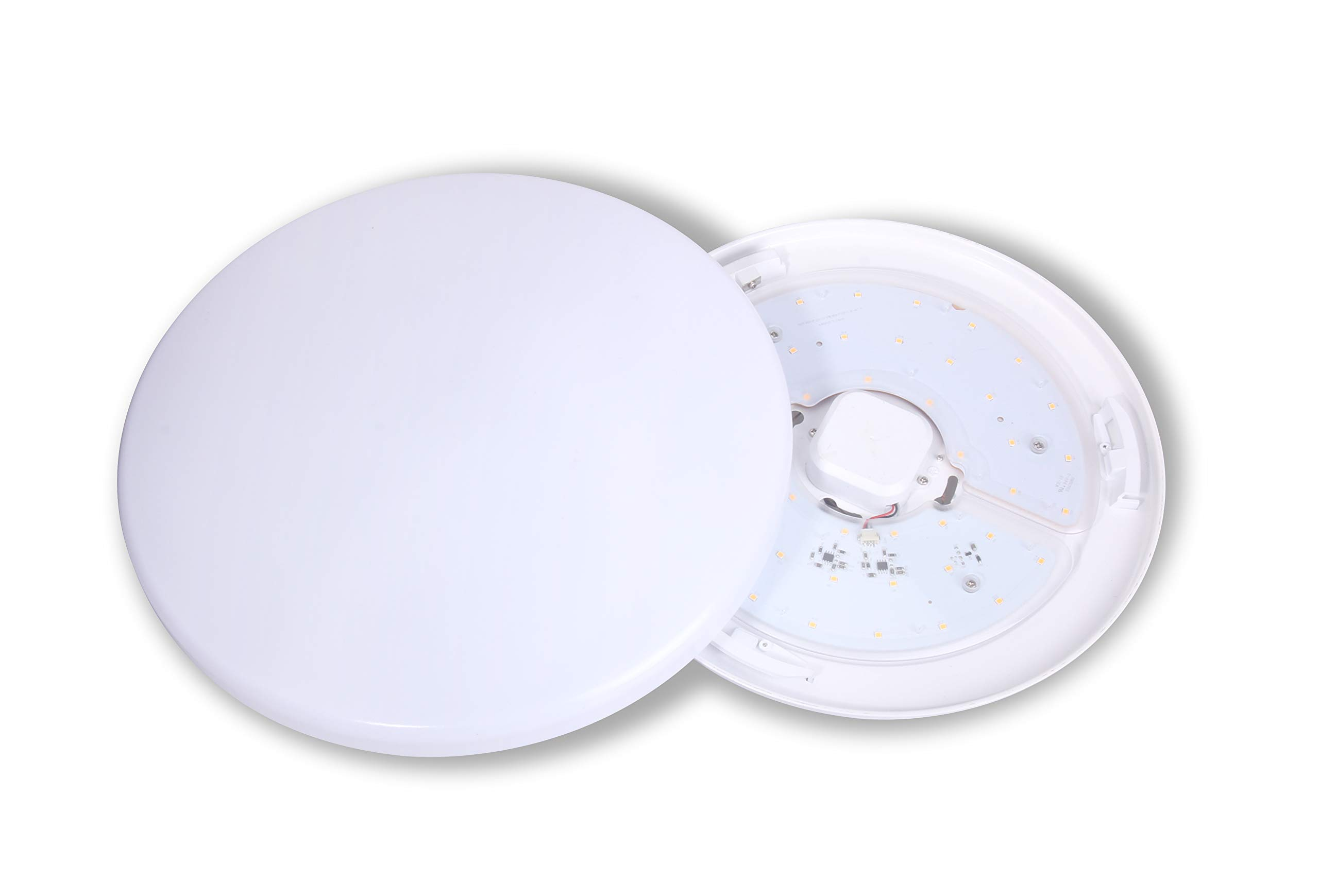 CORAMDEO, 13 inch LED Flush Mount Ceiling Light Fixture, 17.5W Replace 125W, 1300 Lumen, Dimmable, ETL/ES Rated