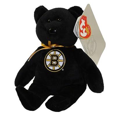 "Ty Boston Bruins NHL Beanie Baby Teddy Bear Plush 8.5"" …: Toys & Games"