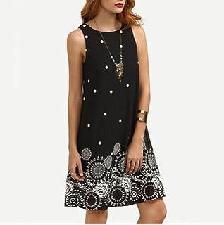 AIEason Clearance! Women Dress, Womens Summer Solid Chiffon Sleeveless Evening Party Vest Dresses