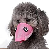 licking trash can - DogLemi Dog Puppy Pet Anti-bite Mouth Covers Set Muzzle Masks Anti-picking Cute Mouth Set Pink/Blue 2 Pack S
