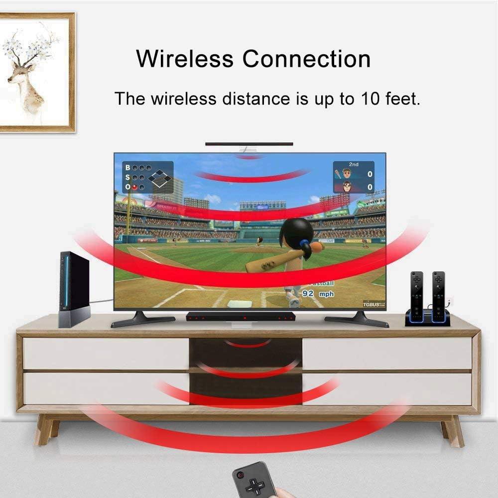 KIMILAR Inalámbrico Barra De Sensor Compatible con Nintendo Wii / Wii U Barra de Sensores de Infrarrojos con 4 * AAA Pilas y 1 Soporte Transparente, [Video Game] -Negro [video game]: Amazon.es: Videojuegos