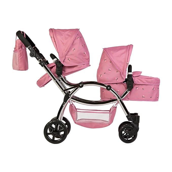 Amazon.es: Cochecito de muñecas Roma Darcie, doble, color rosa, 3 a 16 años: Juguetes y juegos