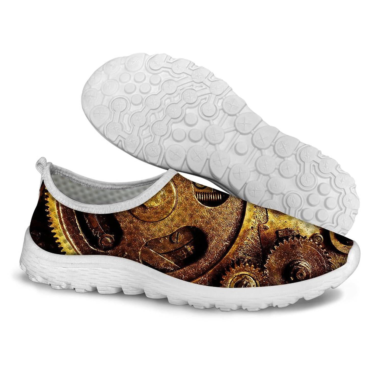 0d795ad75b1 FOR U DESIGNS Women s Brown Lightweight Mesh Walking Running Shoes US 8  cheap