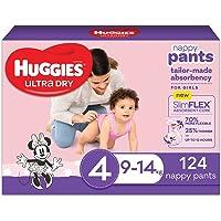 Huggies Ultra Dry Nappy Pants Girl Size 4 (9-14kg)