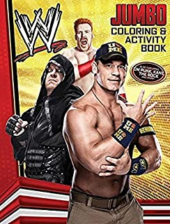 Amazoncom WWE World Wrestling Shaped Coloring Book with Stickers