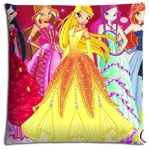 16x16 inch 40x40 cm bedding pillow cases Cotton Polyester Inspirational Decorate Winx (Winx Club Bedding)