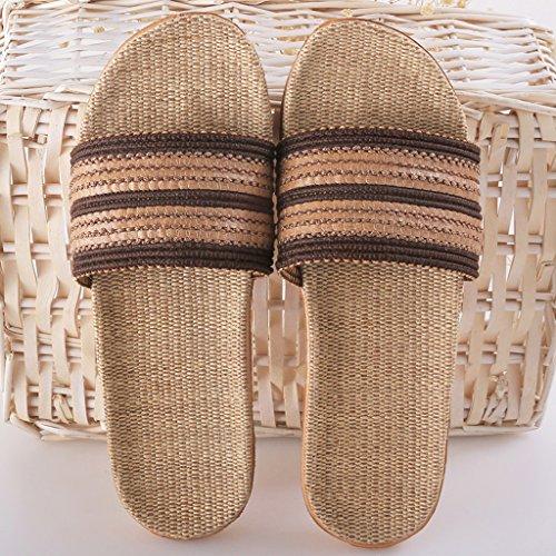 flip Mules Chaussons Pantoufles d'intérieur sabots HYLR quatre de Confortable flops Hommes anti et saisons flip dérapant plancher des la de style Café sandals d'été maison japonais mode flop HBfXUfn