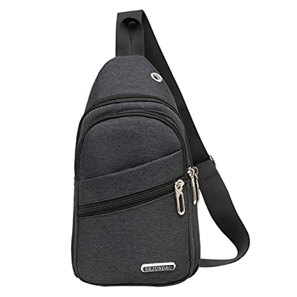 Storage Bags Home Storage & Organization Confident Men Shoulder Bag Sling Chest Pack Crocodile Leather Usb Charge Sport Handbag Storage Bags