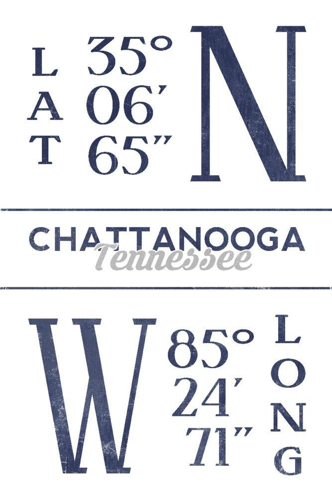 2018新入荷 チャタヌーガ – 緯度と経度(ブルー) Canvas Tote Bag Print LANT-66834-TT 24 B07B2GP17S 24 Art x 36 Signed Art Print 24 x 36 Signed Art Print, スッツグン:4113861b --- cygne.mdxdemo.com