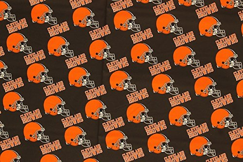 Cleveland Browns Football Brown Sheeting Fabric Cotton 5 Oz ()