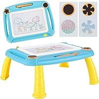 TTMOW Pizarras Magica Infantil Colorido con Pluma, Grande Color Magnético Doodle Sketch Pad para Niños Infantiles (Azul)