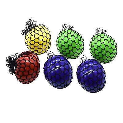 Amosfun 6pcs Squeeze Ball Squeeze Toys para niños Regalo Fiesta de Halloween: Juguetes y juegos