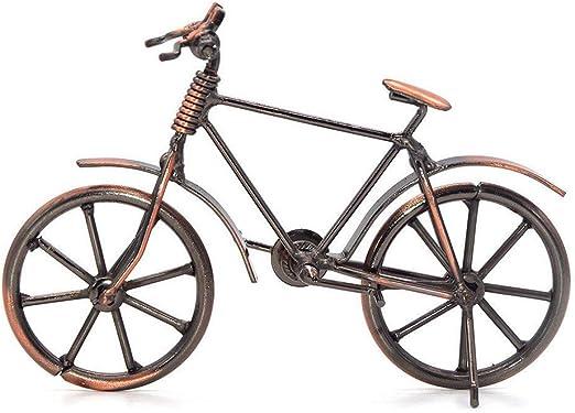 Simon Lee Woodham Escultura de Metal Retro Decoración de Bicicletas de Hierro Forjado, Adornos de Bicicleta de Arte de Metal, Adornos para la Oficina en Casa: Amazon.es: Hogar