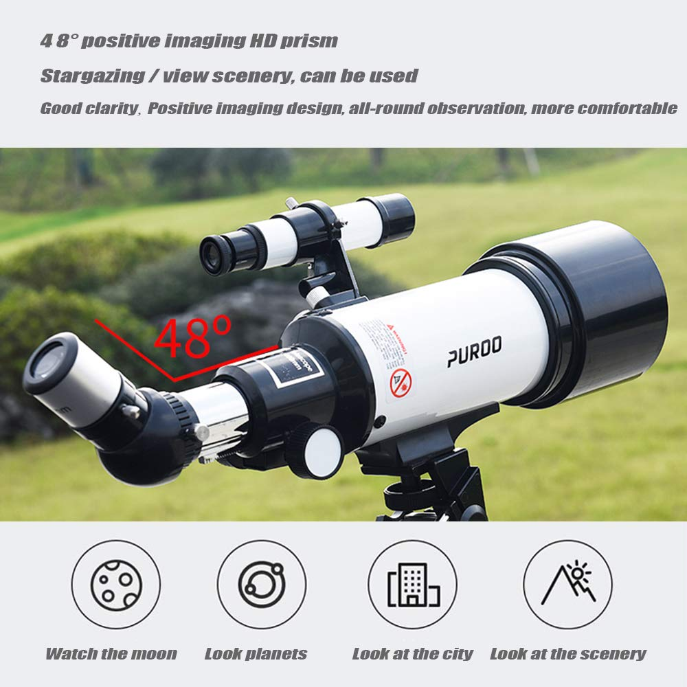 Astronomical Telescope 120X Magnification Optical HD Reflective Telescope, Easy to Assemble and disassemble roof Telescope, Multi-Function Portable high-Power Outdoor Hiking Travel monocular by outdoor equipment (Image #7)