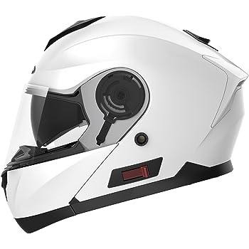 Motorcycle Modular Full Face Helmet DOT Approved - YEMA YM-926 Motorbike Moped Street Bike Racing Crash Helmet with Sun Visor for Adult, Men and Women ...
