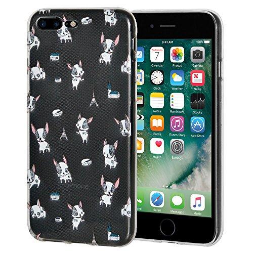 """Amzer Coque """"Imprimé Moderne chiot en gel souple en TPU pour Apple iPhone Transparent 7Plus"""