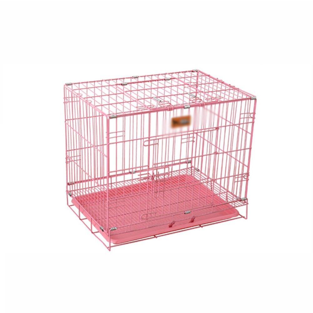 Pink 705060cmXCLLL Pet Fence Pet Dupplies Foldable Durable And Resistant To Bite Bold Reinforced, Large Medium Small Dogs Kennel Universal, Fences Metal Fence Cage Black bluee Pink,Pink,705060Cm