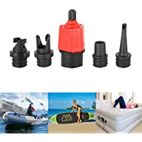CAKKA Inflatable SUP Pump Adaptor Air Pump Converter, Multifunction Air Valve Converter with 4 Standard Conventional Air Valve Nozzles for Inflatable Boat, Stand Up Paddle Board, Inflatable Bed,Etc