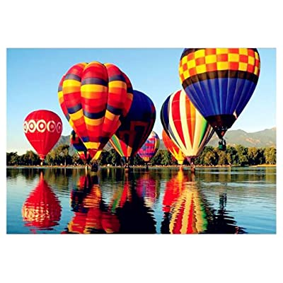 1000 Pieces Jigsaw Puzzles for Adults - Hot Air Balloon Jigsaw Puzzles 19.68'' x 29.52'' –Every Piece is Unique: Toys & Games
