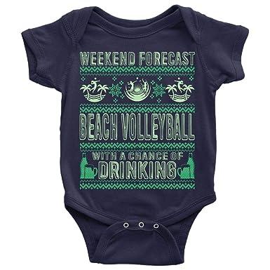 Amazon.com: Body para bebé, diseño de voleibol en la playa ...