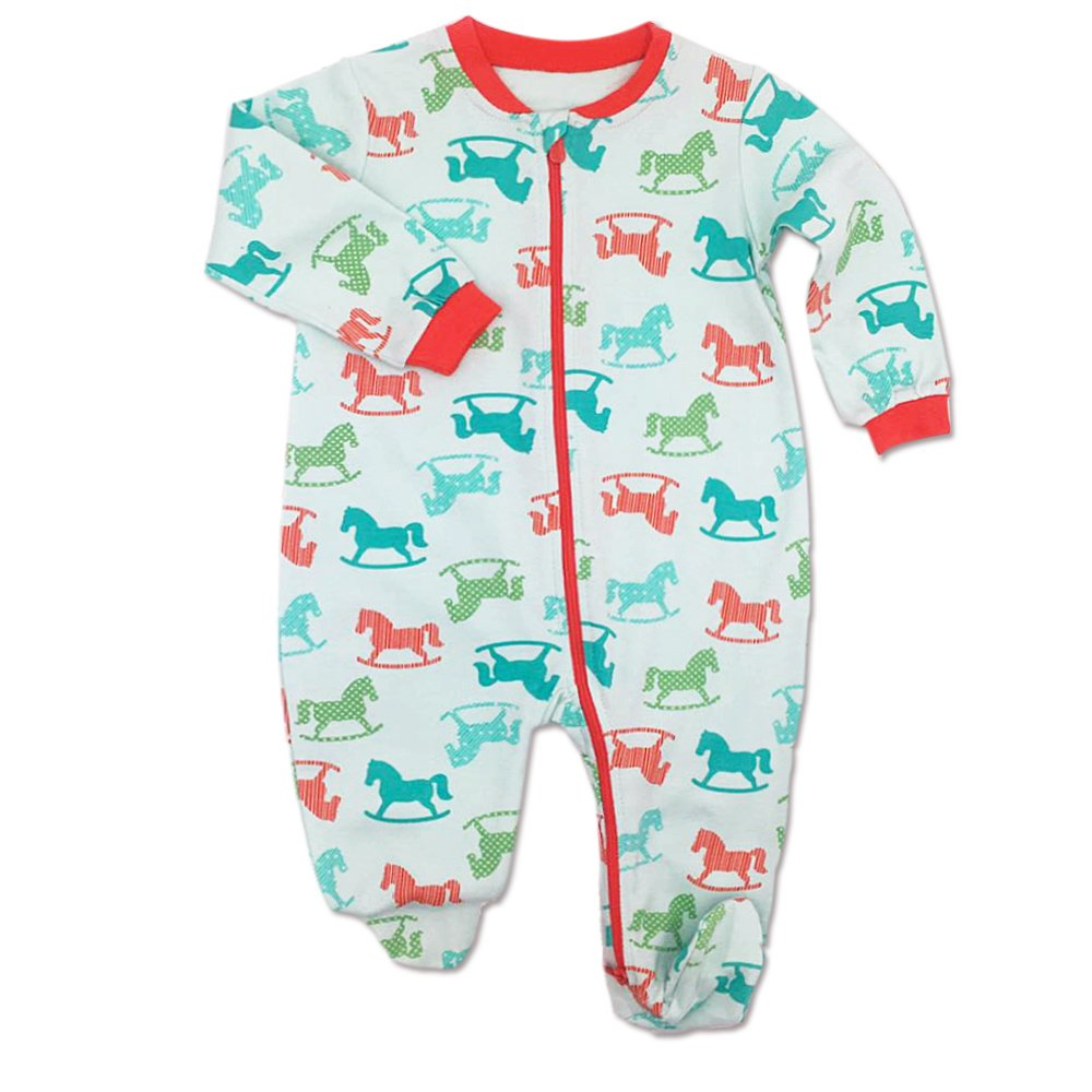 GORBAST Baby Cotton Footed Little Boy Jumpsuits Sleeper Toddler Pajamas Infant Outfits (0-3Months, 04) by GORBAST (Image #1)