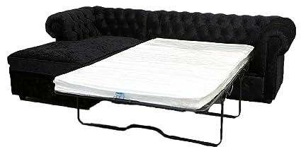 Super Chesterfield L Shaped Corner Sofa Bed Settee Pu Leather Inzonedesignstudio Interior Chair Design Inzonedesignstudiocom