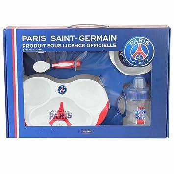 Un coffret repas 5 pièces Paris Saint Germain - bleu - bébé mixte ... 0609a4e27f9