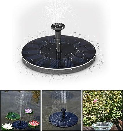WXJHA Fuente de Agua Solar, jardín Fuente Solar Bomba de Estanque Solar, Bomba de Estanque de jardín al Aire Libre Sumergible para baño de pájaros Piscina de jardín: Amazon.es: Hogar