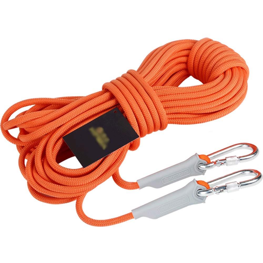 8mm Corde d'escalade extérieure corde de sécurité auxiliaire corde d'escalade corde corde d'escalade corde de sauvetage porter une corde d'urgence équipement d'évasion aventure en plein air, 4 types d'épa 30M